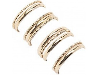 83% off Etched & Solid Ring Set