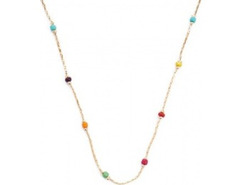 83% off Rainbow Beaded Necklace