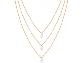 83% off Faux Stone Pendant Necklace Set