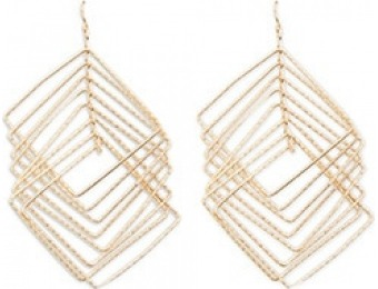 83% off Tiered Square Drop Earrings