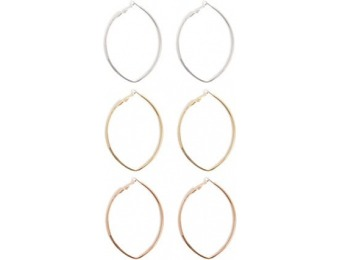 83% off Marquise Hoop Earring Set