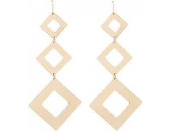 83% off Tiered Geo Drop Earrings
