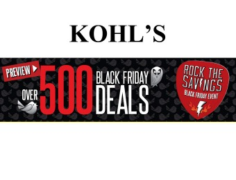Kohl's Black Friday Preview Event - Create Your Black Friday List