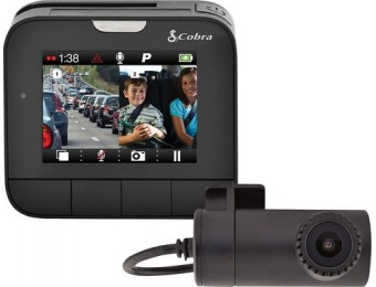 $90 off Cobra Drive HD DASH2216D Front and Rear Camera Dash Cam