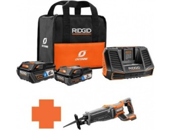$139 off RIDGID Octane Brushless Recip Saw Battery and Charger Kit