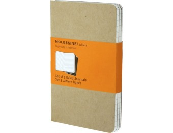 29% off Moleskine Ruled Cahier Journal - Kraft Brown