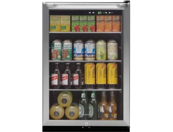 $150 off Frigidaire 138-Can Beverage Center - Stainless steel
