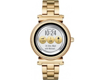 $161 off Michael Kors Access Sofie Smartwatch - Gold Tone