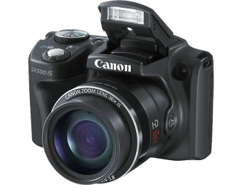 50% off Canon PowerShot SX-500 Digital Camera, 30x Optical Zoom
