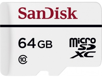 68% off SanDisk High Endurance 64GB microSDXC Memory Card
