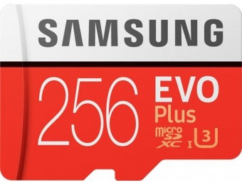 65% off Samsung EVO Plus 256GB microSDXC UHS-I Memory Card