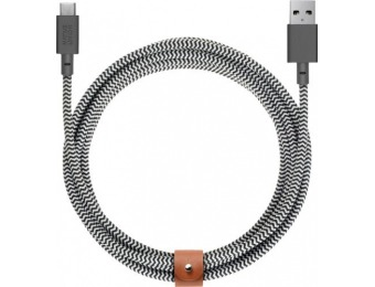50% off Native Union 10' USB Type A-to-USB Type C Cable - Zebra