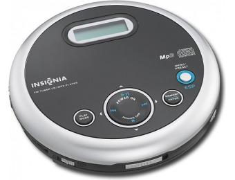 58% off Insignia Portable CD Player with FM Tuner and MP3 Playback