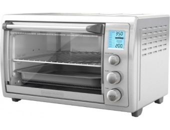 70% off Black+Decker No Preheat Toaster Oven - Stainless Steel