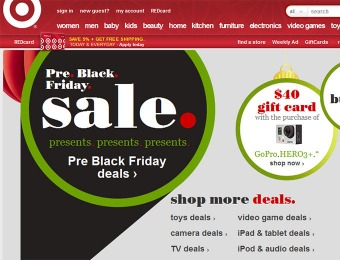 Target Pre Black Friday Sale! Score great deals before Black Friday.