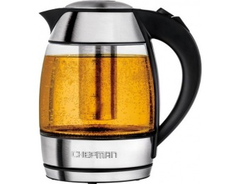 50% off Chefman 1.8L Electric Kettle - Stainless Steel