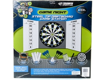 70% off Dartboard with 6 Metal Tip Darts