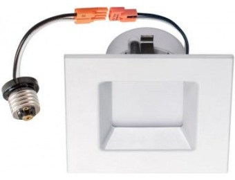 "63% off 4"" Square White Integrated LED Recessed Dimmable Wet"