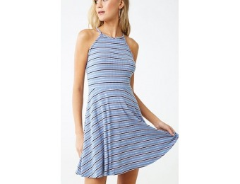 60% off Striped Fit & Flare Dress
