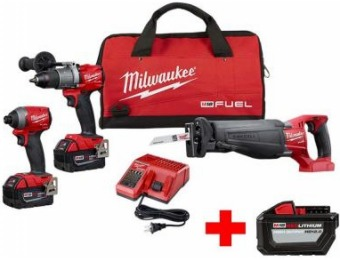 $299 off Milwaukee M18 Fuel Lithium-Ion Brushless Combo Kit