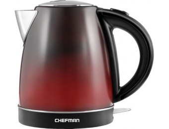 50% off Chefman 1.7L Color Changing Electric Kettle