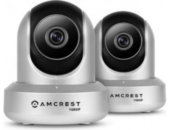 $100 off Amcrest ProHD 1080p Wi-Fi Audio Wireless IP Camera (2-Pk)