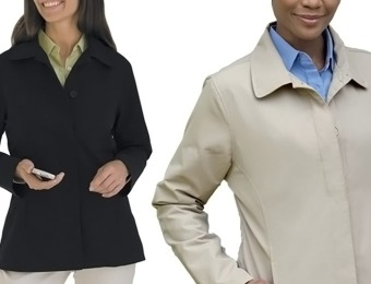 75% off Vantage Soho Button Front Women's Jacket (black or stone)
