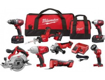 $500 off Milwaukee M18 18-Volt Lithium-Ion Cordless Combo Kit