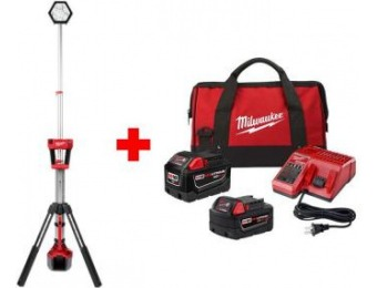 $201 off Milwaukee M18 Lithium-Ion ROCKET Dual Power Tower Light