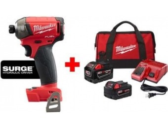 "$149 off Milwaukee M18 Lithium-Ion Brushless 1/4"" Hex Impact Driver"