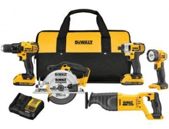 $250 off DEWALT 20V MAX Lithium-Ion Cordless Combo Kit (5-Tool)