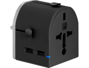 63% off Platinum All-in-One Travel Adapter with 2 USB Ports