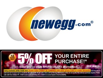 Extra 5% Your Entire Purchase with Newegg Promo Code