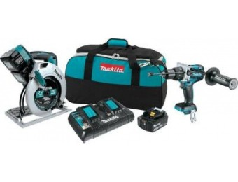 $277 off Makita 18-Volt LXT Lithium-Ion Brushless Combo Kit