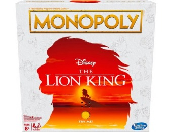 25% off Disney The Lion King Edition Monopoly Board Game