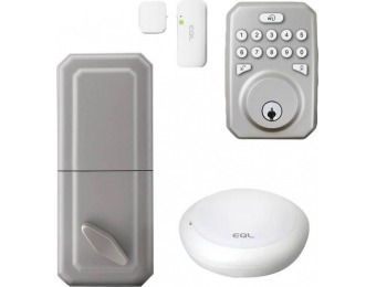 $60 off MiLocks MiEQ Bluetooth/Wi-Fi Push Button Smart Lock - Silver