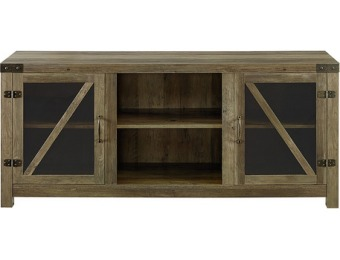 "$64 off Walker Edison TV Cabinet for Most TVs Up to 60"" - Rustic Oak"