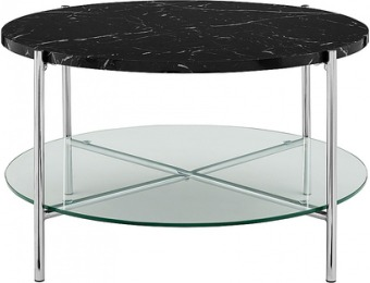 $90 off Walker Edison Modern Round Coffee Table