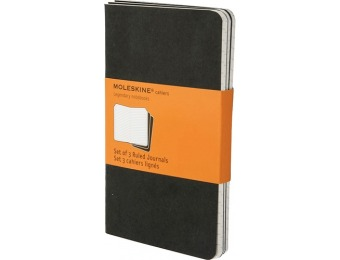 29% off Moleskine Ruled Cahier journal - Black