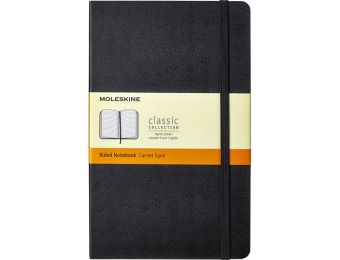 50% off Moleskine Classic Ruled Notebook - Black