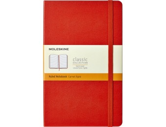 40% off Moleskine Classic Ruled Notebook - Red