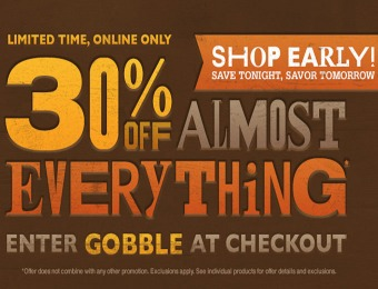 30% off Almost Everything! Online Only!
