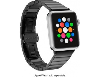 $10 off Platinum Link Stainless Steel Band for Apple Watch 38mm - Black