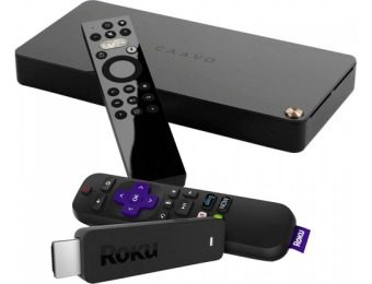 $50 off Caavo 4-Port HDMI Switch, Voice Remote, Roku Streaming Stick
