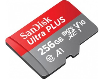 $50 off SanDisk Ultra Plus 256GB microSDXC UHS-I Memory Card