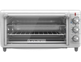 38% off Black & Decker - 8-Slice Air Fryer Toaster Oven - Stainless Steel