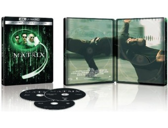 61% off The Matrix [SteelBook] 4K Ultra HD Blu-ray/Blu-ray