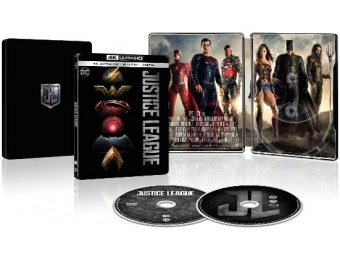 75% off Justice League [SteelBook] 4K Ultra HD Blu-ray/Blu-ray