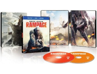 74% off Rampage [SteelBook] (Blu-ray/DVD)