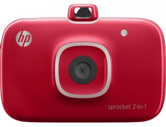$100 off HP Sprocket 2-in-1 Camera & Photo Printer - Red